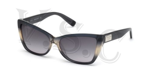 Dsquared Dq0129 Sunglasses Dq 129 Authentic Cat Eye Glasses Retro 20b Grey New by DSQUARED2