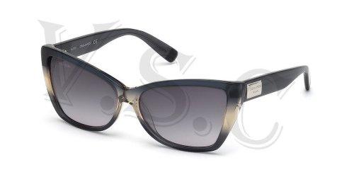 Dsquared Dq0129 Sunglasses Dq 129 Authentic Cat Eye Glasses Retro 20b Grey - Sunglasses Dq