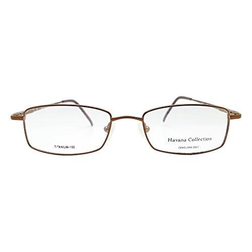 Havana Collection Men's Royale Eyeglasses Prescription Frames, 51-18-140 - Frames Collection Eyeglass