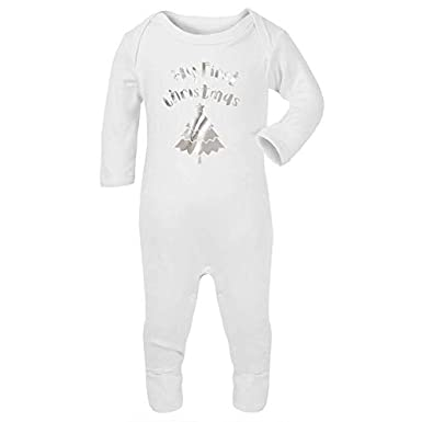 Tees In The Wood My First Christmas with Tree Baby And Toddler Romper Suit