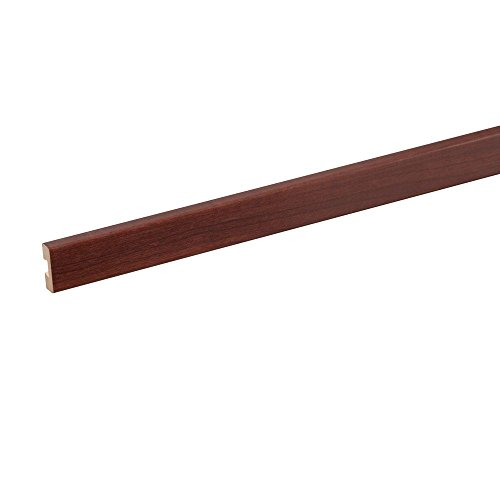 ClosetMaid 72 in. x 1.5 in. Dark Cherry Wood Front Shelf Trim