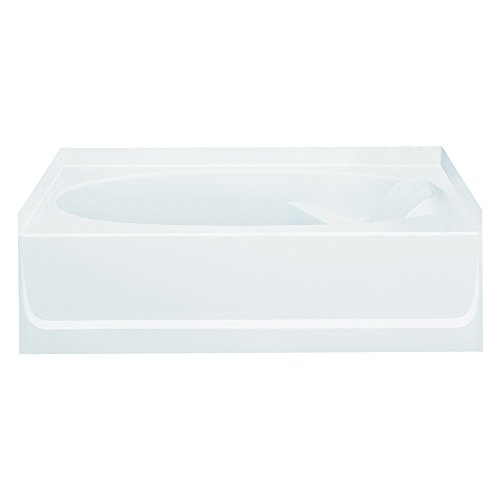 Sterling Plumbing 71101110-0 Ensemble Bathtub, 60-Inch x 36-Inch x 16-Inch, Left-Hand, White