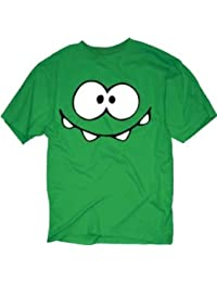 Cut The Rope ~ On Nom Smiley Face ~ 100% Cotton ~ Men's T-Shirt (XLarge, Green)