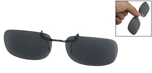 Amazon.com : eDealMax Clip Unisex de la lente gris del rectángulo Para deportes polarizadas gafas de sol gafas : Sports & Outdoors