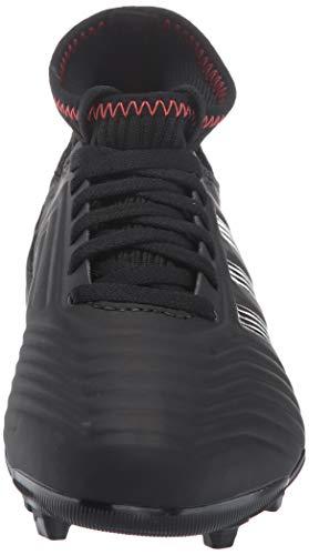 adidas Unisex Predator 19.3 Firm Ground, black/black/active red, 2.5 M US Little Kid by adidas (Image #4)