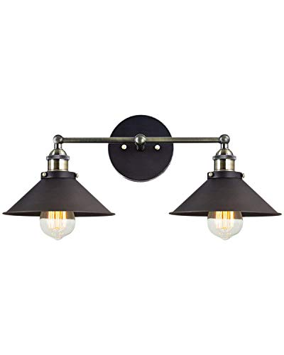 - Wall Sconces Deep Dream 2-Light UL Hardwire Industrial Vintage Wall Lamp Fixture,Arm Swing Wall Lights(Bronze,Without Bulbs)