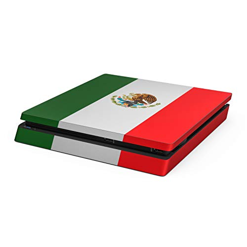 Mexican Flag Skin Compatible with Sony Playstation 4 Slim System - Ultra Thin Protective Vinyl Decal wrap Cover