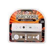 Gear Monkey Wii Remote Gloves for Nintendo Wii - Black & Clear, 2 Piece Set, Gearmonkey ()