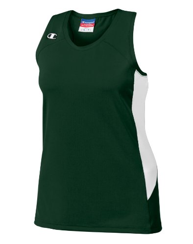 Champion Double Dry® Stretch Racerback Womens Jersey # L542 Athletic Dark Green/White 1zAMWNMPg