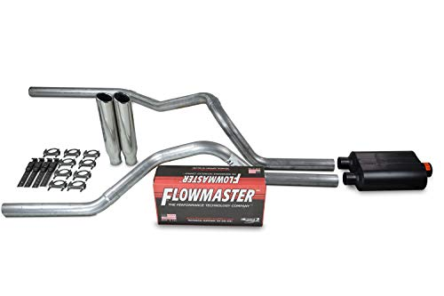 Truck Exhaust Kits - Shop Line dual exhaust system 2.5 AL pipe Flowmaster Super 40 2.5