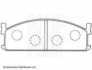Amazoncom Replacement Blueprint Front Brake Pads Full Set For