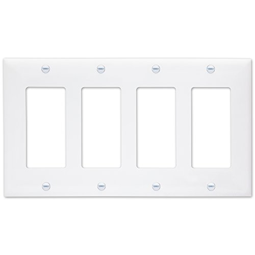 Duplex Outlet Triple Toggle Switchplate - 8