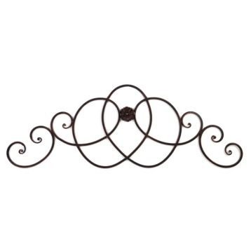 croll Wall Decor - Black Bronze Decorative Art Wall Plaque For Home / Headboard - 57