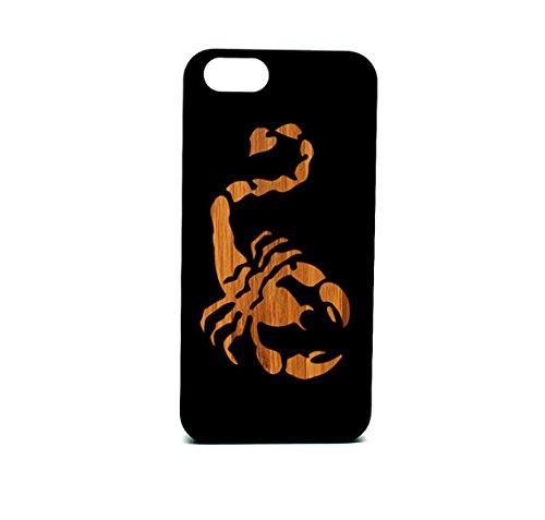 (Krezy Case Real Wood iPhone 6/6s Case, Scorpion laser engraved black wood iPhone 6/6s Case, Wood iPhone 6/6sCase, Black wood iphone case)