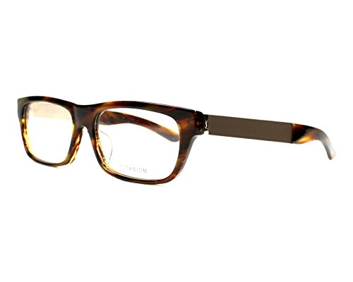 YSL Saint Laurent YSL 4022J 8LW Brown Horn/light gold rectangle eyeglasses