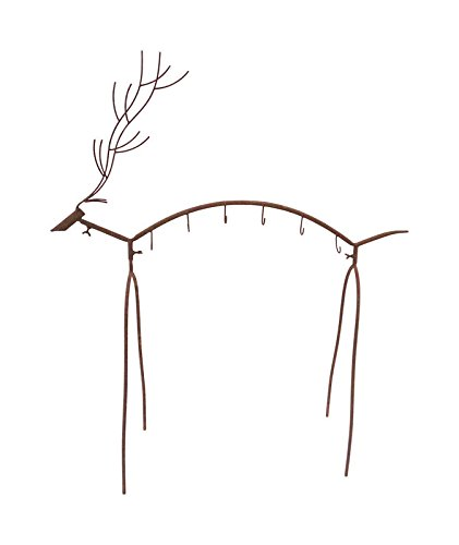 Celebrations 9451691 40 x 13.5 x 44 in. Reindeer Stocking Holder Brown - Iron- pack of 3