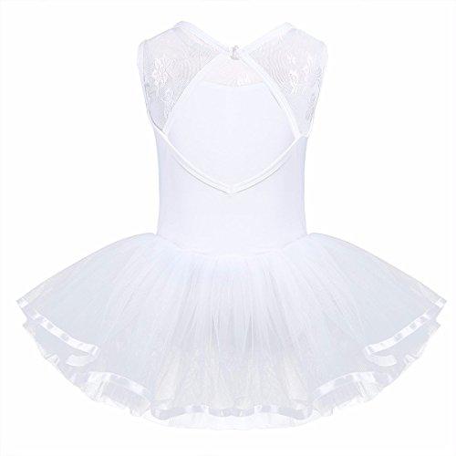 FEESHOW Tutu Ballet Enfant Fille Justaucorps de Danse Classique sans Manches  Dos nu Coton Justaucorps de Danse Gym 3-14 ans  Amazon.fr  Vêtements et ... d635db75ddd