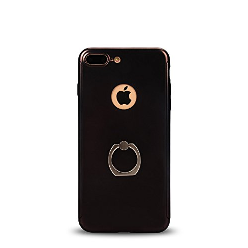 iPhone 7 Plus case, Super thin body 360 degrees of protection membrane toughened glass screen protector for iPhone 7 plus - black