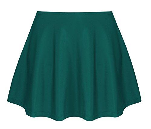 Angerella Womens Solid Color Swimsuit Skort Bottom Swimwear Bathing (Green Womens Skirt Suit)