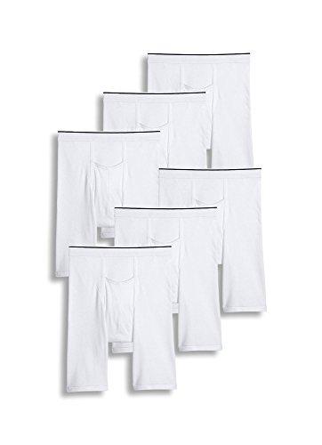 (Jockey Men's Underwear Pouch Midway Brief - 6 Pack, White, XL)