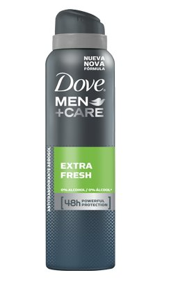 Dove Men Extra Fresh Antiperspirant Deodorant 48h Spray 150 ml / 5 fl oz (6-Pack)