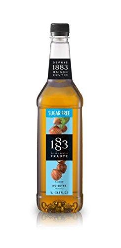 1883 Maison Routin Sugar Free Syrups 1 Liter Bottle (Sugar Free Hazelnut) ()