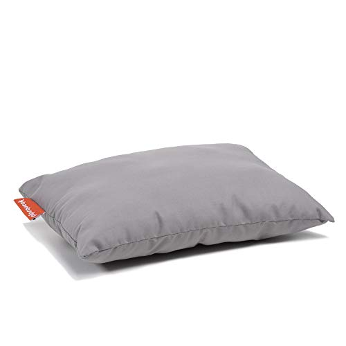 Urban Infant Pipsqueak Small | Tiny | Mini Pillow with Name Tag - Washable and Hypoallergenic - Gray