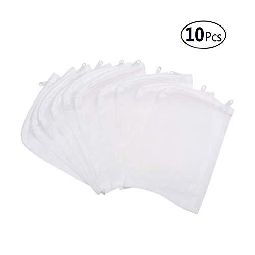 Aquarium Filter Media Bag Nylon Fine Mesh Bag Net Bag Zipper - FUNLAIVE