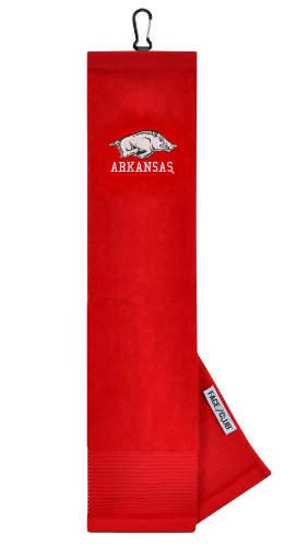 Arkansas Razorbacks Face/Club Embroidered Towel