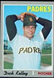 1970 Topps Regular (Baseball) Card# 474 Dick Kelley of the San Diego Padres ExMt Condition