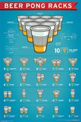 Beer Pong Racks Poster 24 x 36in