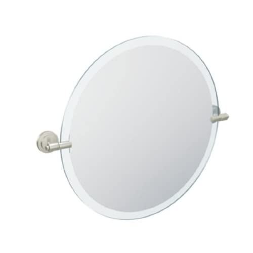 Moen DN0792BN Iso Round Mirror, Brushed Nickel