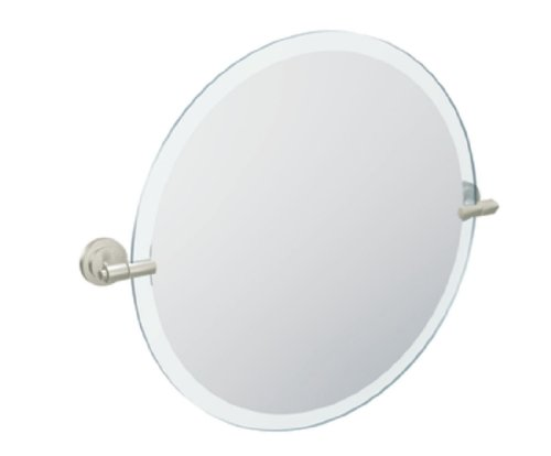 Moen DN0792BN Iso 22-Inch x 22-Inch Frameless Pivoting Bathroom Tilting Mirror, Brushed -