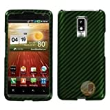 MYBAT Racing Fiber/Dr Green (2D Silver) Phone Protector Cover compatible with LG VS920 (Spectrum)
