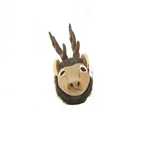Wall Mountable Elk Head - Plush Elk Stuffed Animal - - Mail Priority Time Length Of
