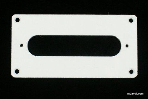- Humbucker to Tele Style Neck Pickup Adapter Ring ,H-TN 1-Ply White