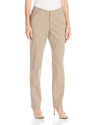 Lee Women's Midrise Fit Essential Chino Pant, Light Fawn, 18 Short