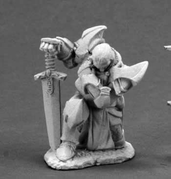 Praying Paladin Dark Heaven Legends Miniature (Dark Paladin Miniatures)