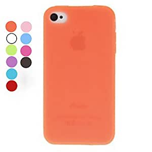 DUR Solid Color TPU Soft Case for iPhone 4/4S (Assorted Colors) , Gray