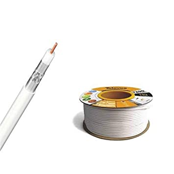 Televes CXT1IC 100m Color blanco - Cable coaxial (100 m, Color blanco)
