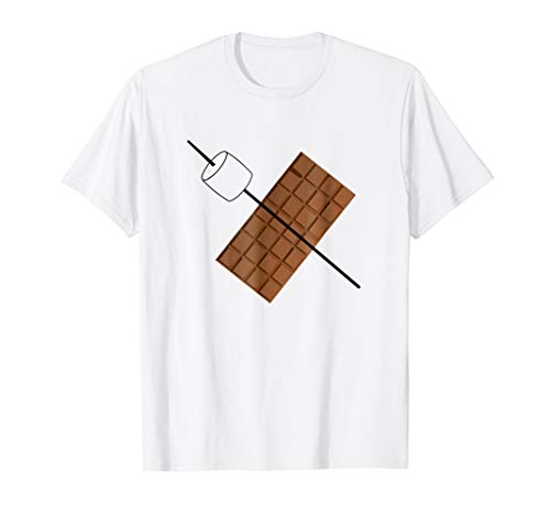 Lazy Halloween Costume Tshirt Smores Chocolate T