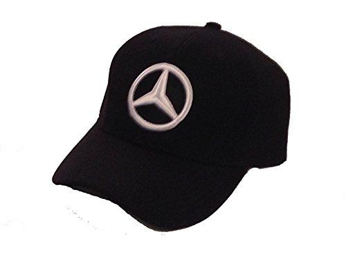 Mercedes Benz Black Baseball Cap Hat. 3D Emblem. Adjustable. (Cap Hat Emblem)