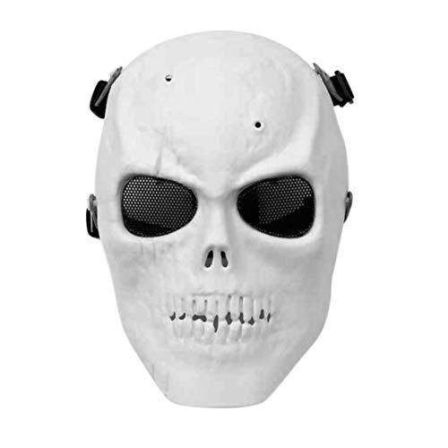 Mask, Skull Skeleton Mask Outdoor CS Mask Airsoft Paintball BB Gun Full Face Protection Mask Shot Helmets with Eye Shield
