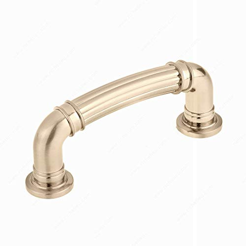 (Traditional Metal Pull BP88183CHBRZ - 8818, Center to Center 3 in, Champagne Bronze Finish)