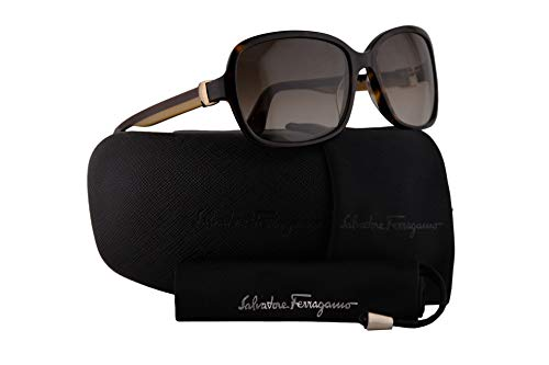 Salvatore Ferragamo SF606S Sunglasses Tortoise w/Brown Gradient Lens 58mm 214 SF 606S