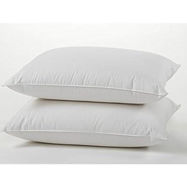 East Coast Bedding Premium Quality European 800 Fill Power White Goose Down Pillow Set – 100% Luxury Cotton Sateen Shell – Set of Two Pillows (King)