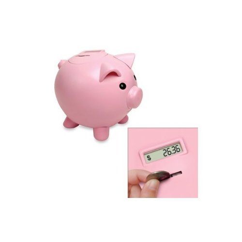 Save Money With The Piggy Bank - Electronic Piggy Bank (Pink .   B004KAWXHY