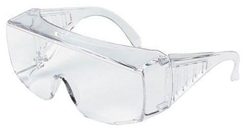 X-Large MCR Safety 9810XLB Yukon Polycarbonate Clear Lens Safety Glasses with Spatula Temples in Box Clear