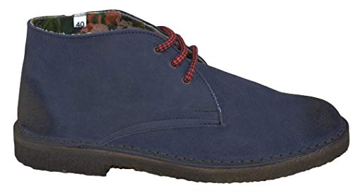 Made Polacchino Navy Weg Italy Desert Camoscio Boot in C48XwFBq