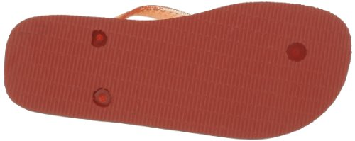 Havaianas Top Logo Metallic Silver Chanclas, mujer Naranja - Orange (Salmon)